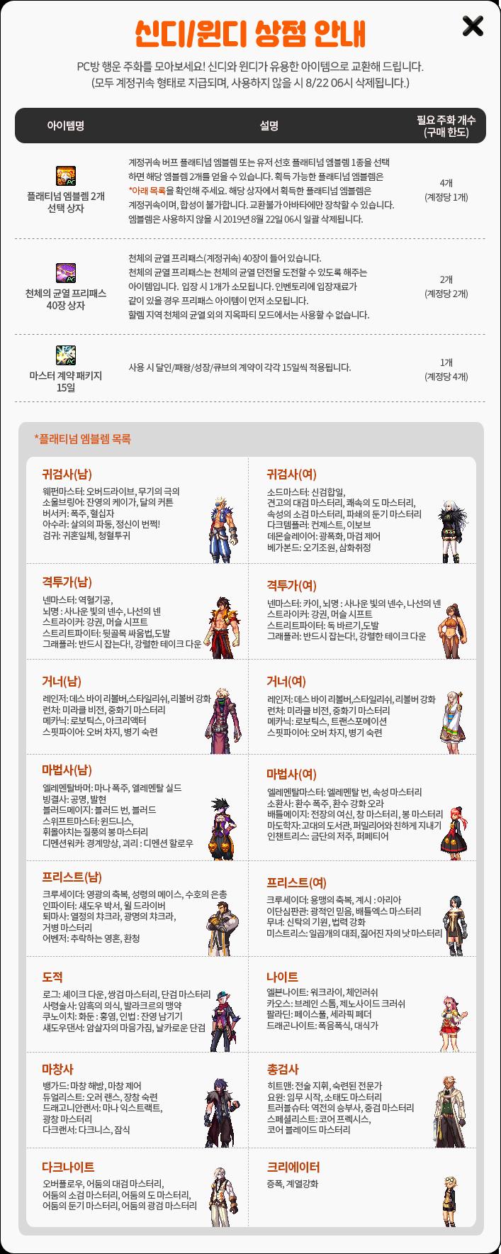 신디/윈디 상점